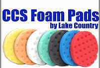 """Lake Country 4"""" CCS Buffing Pads 3 - Pack Your Choice! 7 Colors to choose from!"""