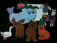 """NEW! Felt Board/ Flannel Story / song -""""DOWN BY THE BAY""""- preschool circle time"""