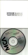 STEVE EARLE Back to the Wall Ultra Rare 1988 USA PROMO DJ CD Single CD45 17753