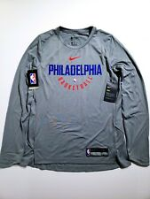 82b6c952cb3 New ListingNike NBA Philadelphia 76ers Dri-Fit Practice Jersey Shirt Womens  SZ Medium Gray