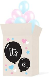Gender Reveal Box Sticker Kit - Decorate Your Own Balloon Box - Stickers Only