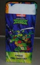 New Teenage Mutant Ninja Turtles 4 Piece Twin Sheet Set Nickelodeon Microfiber