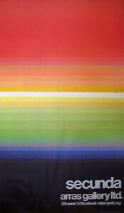Secunda - ARRAS Gallery 1976 poster - facsimile signature - PRISTINE CONDITION