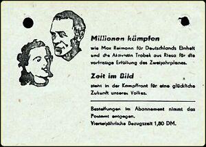 Anty War Propaganda Slogan Januar 1950 Soviet occupation zone East Germany