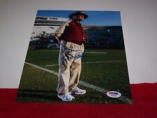 BOBBY BOWDEN Signed FLORIDA STATE 8X10 FIELD PHOTO 2 PSA CERTIFIED