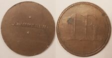 Jeton de Nécessité, 1 Franc, J. Hammerer, vers 1920, Rare !