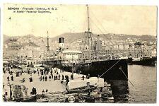 CPA Italie Ligurie Genova Piroscafo Umbria al ponte féderico Guglielmo