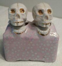 Vintage Skull Bobble Head Nodder Salt & Pepper Shakers G NOV. CO. Made in Japan