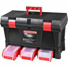 Caja de Herramientas Profesional De Almacenamiento Plástico Caja de Herramientas Organizador Garaje Resistente en el pecho