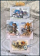 BURUNDI 2012 MNH 4v SS, Cycling Sports