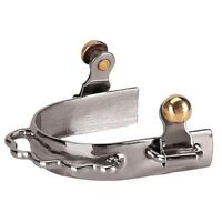"""NEW Weaver Leather Women's Nickel Plated Barrel Racing Bumper Spurs 3/4"""" Band"""