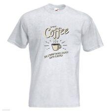 Drink Coffee PRINTED T-SHIRT tee shirt tshirt art