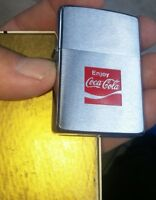 1975 Coca Cola Zippo lighter brushed chrome finish new with box very rare