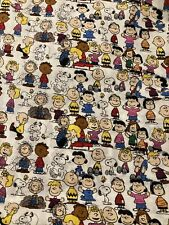 SNOOPY Peanuts GANG White 100% Cotton Fabric by the Half Yard
