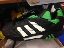 ADIDAS  quito team  5.  UK  AT £10 BLACK /GREEN ASTRO  MAN MADE LEATHER