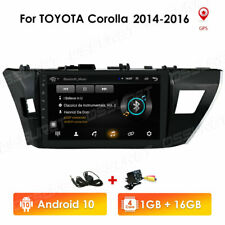 """10.1"""" Android 10 Car GPS Wifi BT Radio Stereo +Cam For Toyota Corolla 2014-2016"""