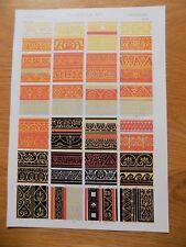 Original Book Print Grammar of Ornament Owen Jones 13x9 Inch Pompeian 1