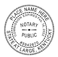 State of Kentucky  | Custom Round Self-Inking Notary Public Stamp Ideal 400R