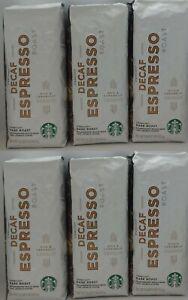 Starbucks Decaf Espresso Dark Roast Whole Bean Coffee  6-1lb Bags BB 03/2021