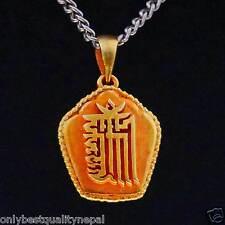 Amulett Gau Tibet Schmuck Kalachakra Symbol Medallion Nepal a129