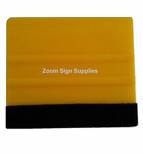 PRO FELT EDGE YELLOW SQUEEGEE VINYL DECAL WRAPPING APPLICATION TOOL CAR VAN
