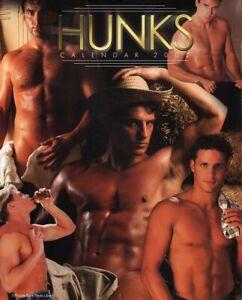 HUNKS - MALE BEEFCAKE HUNKS VINTAGE 2002 American CALENDAR - BRAND NEW & SEALED