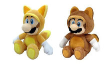 Little Buddy  Set of 2 Super Mario Plush Doll - Fox Luigi/ Raccoon Tanooki Mario