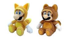 Sale  Tanooki Mario & Kitsune Fox Luigi (Set of 2) Super Mario Plush Doll