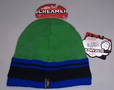 f72d4cd35a03b NWT Kids Boys Screamer Mohawk Dude Winter Beanie Hat Cap Green Blue NEW One  Size