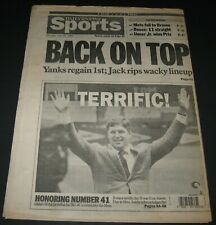 Daily News July 25,1988 Newspaper New York METS Retire Tom Seaver's #41 Baseball