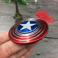 Trendy Captain America Avengers Hand Spinner Fidget Toy Alloy Torqbar Brass