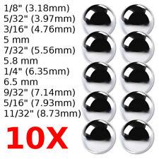 10x BALL BEARING LOOSE BIKE BALLS 1/8 5/32 3/16 7/32 1/4 9/32 5/16 STEEL MOPED