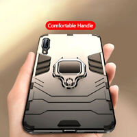 For Samsung Galaxy A40 A50 A70 Hybrid Armor Magnetic Car Ring Holder Case Cover
