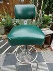 Vintage STEELCASE Industrial Drafting Chair shop Stool Machinist Steampunk CLEAN