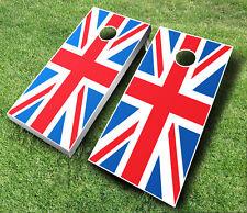 British Cornhole Wraps Boards Set Bean Bag Toss + 8 Aca Regulation Bags