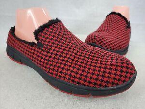 Easy Street Sport Kana Ultralight Slip on Mules Size 10M Red/ Black