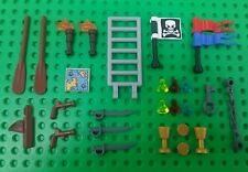 *NEW* Lego Pirates Swords Muskets Treasure Map Gems Gold Oars Skull Crossbones