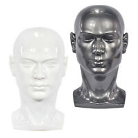 PVC Mannequin Head Man Dummy Wig Mannequin Scarf Sunglass Headset Display Stand