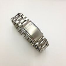 SEIKO Authenticl Silver Tone Stainless Steel Metal Watch Band 20mm