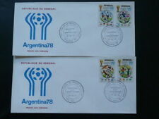 football world cup Argentina 1978 x2 FDC Senegal 64314