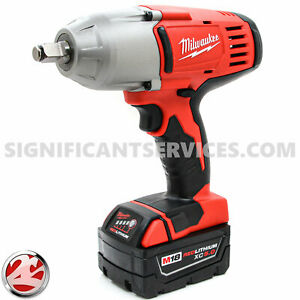 """New Milwaukee 2663-20 M18 Cordless 1/2"""" High Torque Impact Wrench 5.0 Ah Battery"""