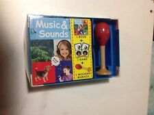 Music and Sounds - Book, Game and wooden maraca