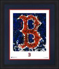 "Boston Red Sox Timothy Raines Logo Art 16"" x 20"" Framed Baseball Photo"
