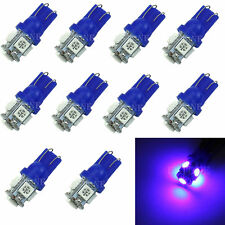 10PCS T10 5 LED 5050 SMD 194 168 W5W Blue Light Wedge Bulb XENON Car Tail Lamp