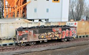 HO Hochbordwagen Ea SBB Ladung Altreifen Graffiti patiniert Basismodell Roco TOP