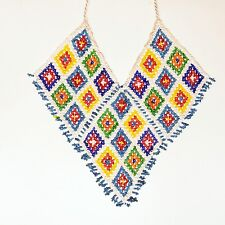 KUCHI Tribe BellyDance ATS Central Asia Beaded NECKLACE 806k7