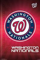 WASHINGTON NATIONALS - LOGO POSTER - 22x34 MLB BASEBALL 14703