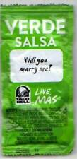 Taco Bell Verde Salsa Rare Collectible Un-Opened WILL YOU MARRY ME?