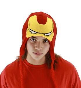 Marvel Comics Iron Man Avengers Movie Licensed Laplander Style Beanie Hat UNWORN