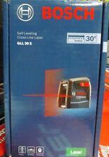 Bosch Gll 30 S Self Leveling Cross Line Laser Brand New